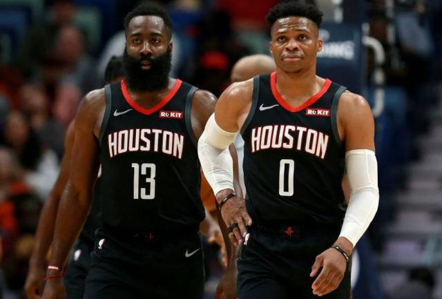 James Harden i Russell Westbrook / fot. wikimedia commons