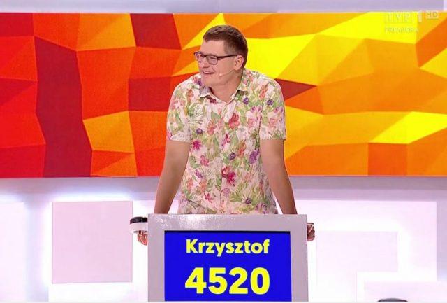 Krzysztof Adamczyk tuż po pierwszym zwycięstwie w