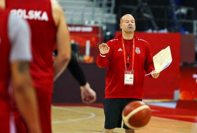 Trener Mike Taylor / fot. A. Romański, PZKosz
